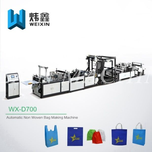 Eco - Friendly Non Woven Polypropylene Bags Making Machine Fully Automatic