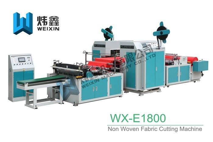 Purple Non Woven Fabric Cutting Machine / PP Woven Fabric Cutting Machine