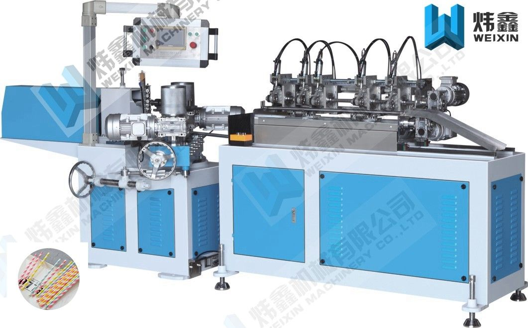 Efficiency Double Color Paper Tube Machine For Packing Single Drinking Straw